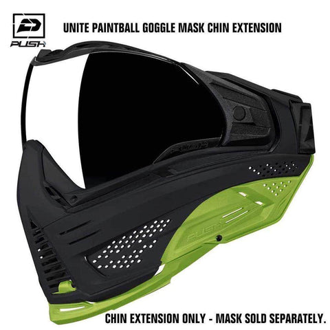 Push Unite Paintball Goggle Mask Chin Extension - Lime - PaintballDeals.com