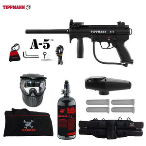 Tippmann A-5 Beginner HPA Paintball Gun Starter Package