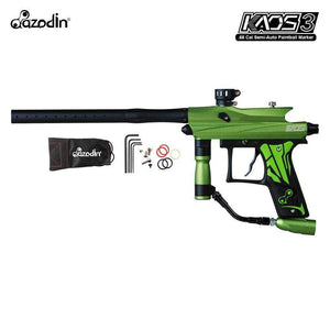 Azodin Kaos 3 Semi-Automatic .68 Caliber Paintball Gun Marker - Green / Black