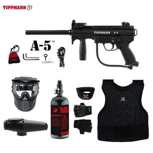 Tippmann A-5 Beginner Protective HPA Paintball Gun Package