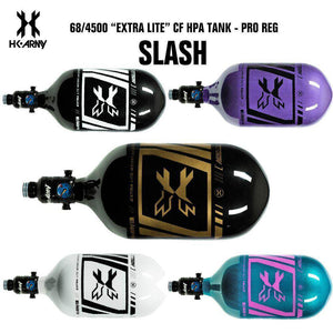 HK Army Slash 68/4500 Extra Lite Carbon Fiber Compressed Air HPA Paintball Tank - V2 Pro Regulator