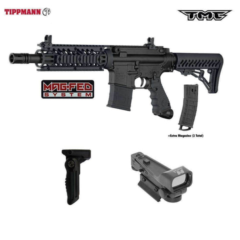 Tippmann TMC MAGFED Paintball Gun RED DOT Tactical Package