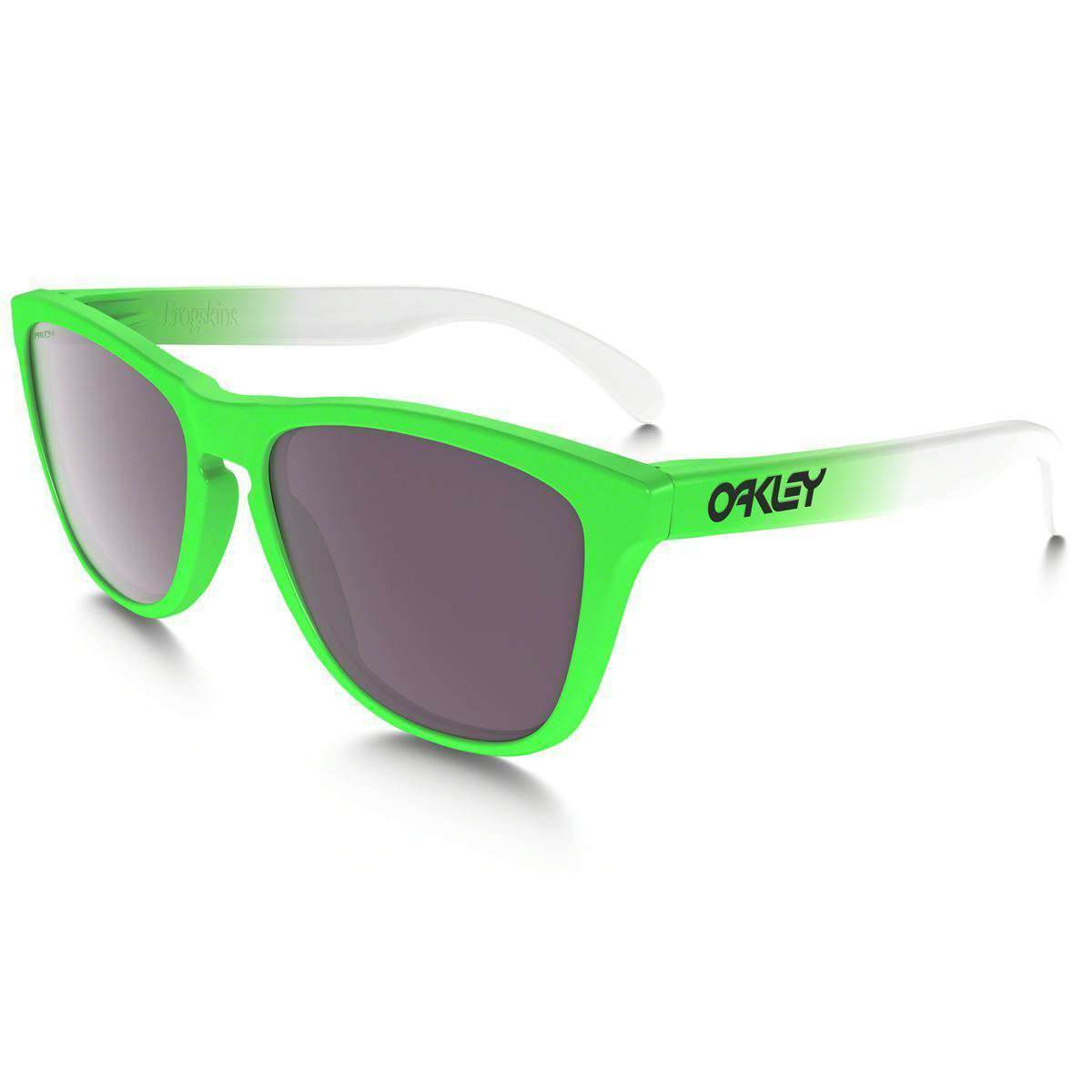 CLEARANCE - Oakley Frogskins Men's Sunglasses OPEN BOX - Green Fade w/ PRIZM Daily Polarized Lens