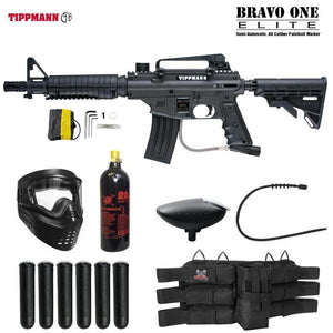 Maddog Tippmann Bravo One Elite Tactical Titanium Paintball Gun Package