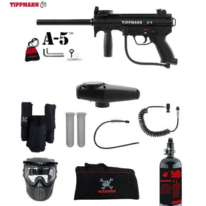 Tippmann A-5 Private HPA Paintball Gun Package