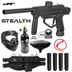 Maddog JT Stealth Semi-Automatic .68 Caliber Silver Paintball Gun Starter Package - PaintballDeals.com