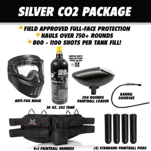 Tippmann Gryphon FX Silver Paintball Gun Package - Skull