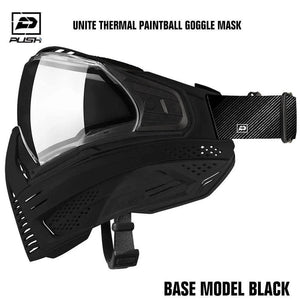 Push Unite Thermal Paintball Goggle Mask - Base Model Black - PaintballDeals.com