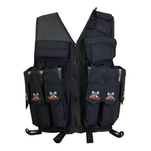 CLEARANCE - Maddog Tactical Paintball Attack Vest - Black - OPEN BOX