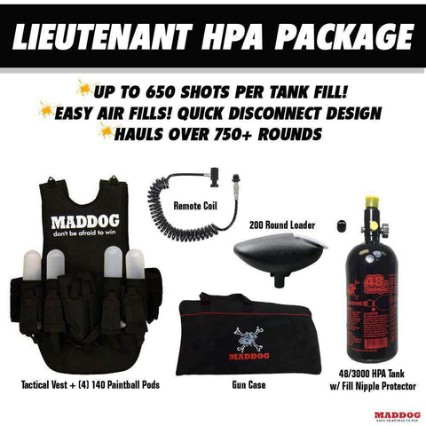 Tippmann Cronus Tactical Lieutenant HPA Paintball Gun Package