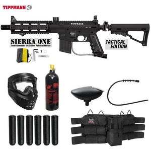 Maddog Tippmann Sierra One Titanium Paintball Gun Package
