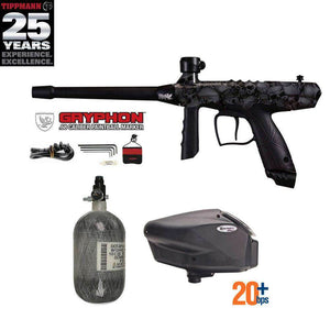 Tippmann Gryphon FX HPA Paintball Gun Package - Skull