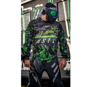 HK Army HSTL Line Padded Paintball Jersey - Slime - PaintballDeals.com