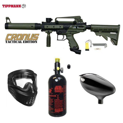 Tippmann Cronus Tactical Beginner HPA Paintball Gun Package