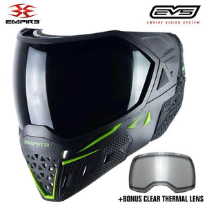 Empire EVS Thermal Paintball Mask - Black / Lime Green - PaintballDeals.com