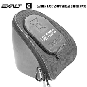 Exalt Carbon Universal Paintball Goggle Mask Microfiber Travel Case V3 - Charcoal / Grey - PaintballDeals.com