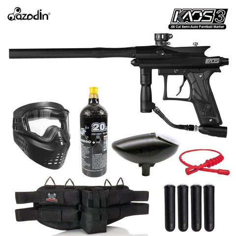 Maddog Azodin Kaos 3 Package Silver Paintball Gun Marker Starter Kit