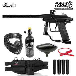 Maddog Azodin Blitz 4 Silver HPA Paintball Gun Marker Starter Package