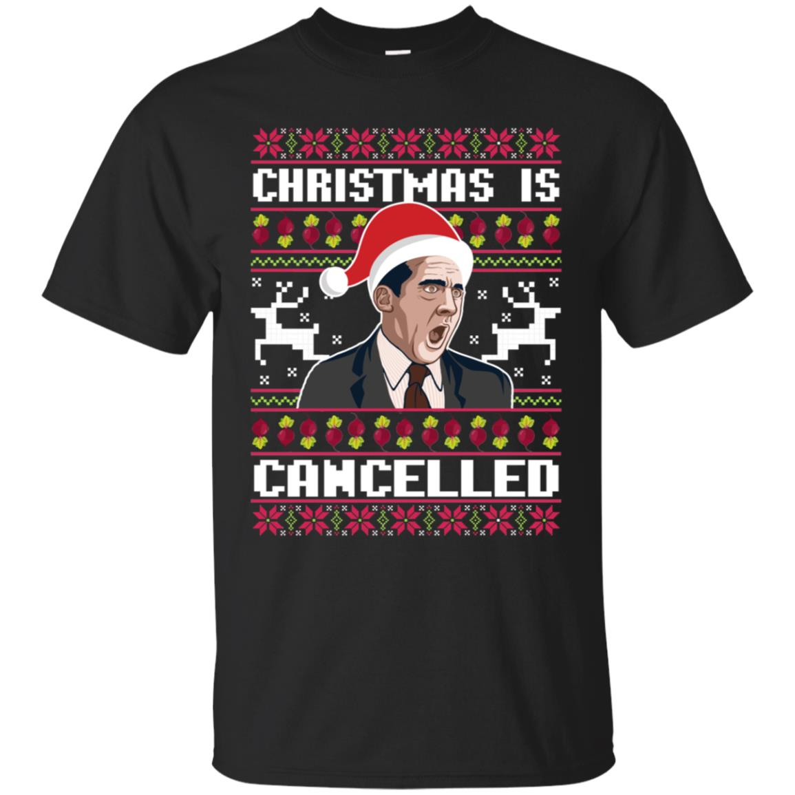 Christmas Is Cancelled Michael Scott The Office Ugly Christmas