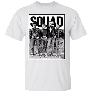 Freddy Jason Michael Myers And Leatherface Squad Horror Halloween Shirt