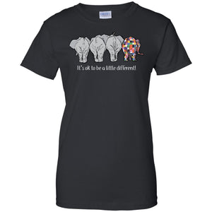 Elephants It_s Ok To Be A Little Different Shirt