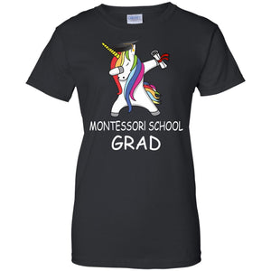 Dabbing Unicorn Graduation Montessori School Shirt