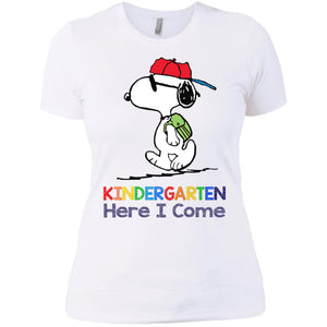 Back to School Snoopy Kindergarten Here I Come Shirt