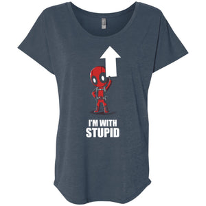 Deadpool I_m With Stupid up shirt