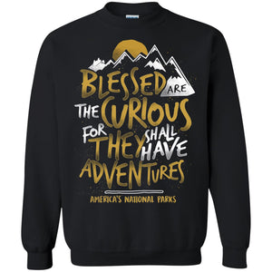 Blessed Are The Curious For Adventures America's National Parks Shirt