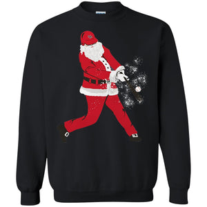 Baseball Home Run Santa Christmas Shirt