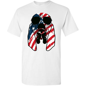 Bloodhound American Flag Pattern Shirt