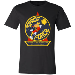 Best Price Trump Space Force Let's Just Shoot Him Into The Sun Shirt