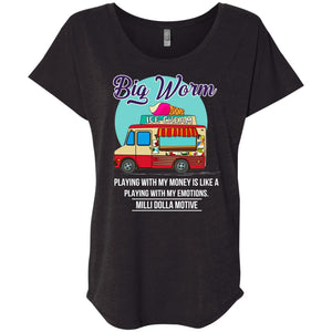 Big Worm Ice Cream Truck Playing With My Money Shirt