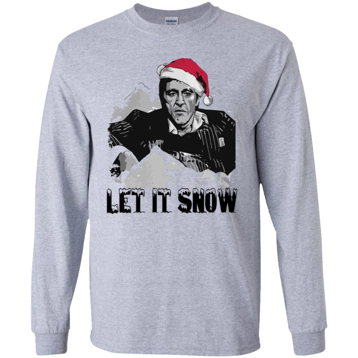Santa Scarface Let It Snow Christmas Shirt Sweatshirt Therockin