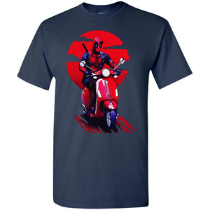 Deadpool Ride Vespa Shirt