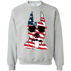 Boberman Pinscher American Flag Pattern Shirt
