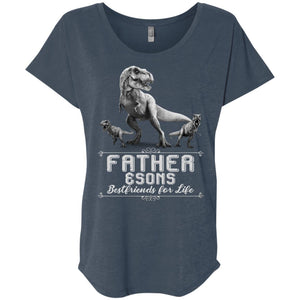 Dinosaurs T-rex Father And Sons Bestfriends For Life Shirt