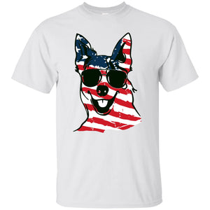 Australian Cattle American Flag Pattern Shirt