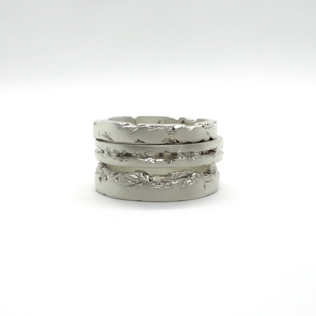 DREAM STACK RING WHITE