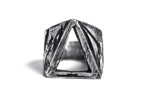 O-TRIANGLE SIGNET RING - OSS