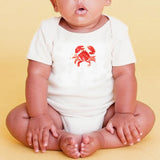 Organic Cotton Short Sleeve Onesie- Crab