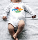 Organic Cotton Long Sleeve Onesie- Fish