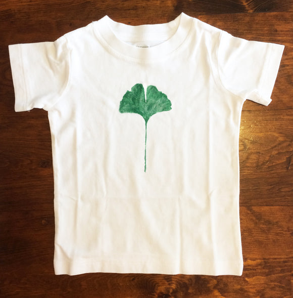 Gingko leaf print T shirt
