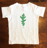 Oak leaf print T shirt