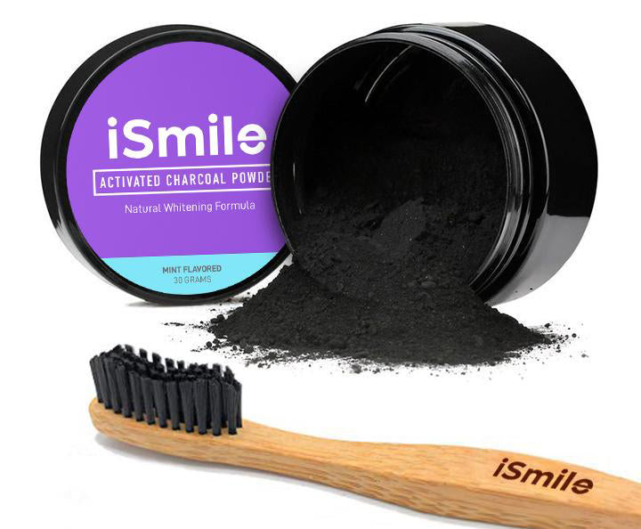 Activated Charcoal Powder with Bamboo Toothbrush