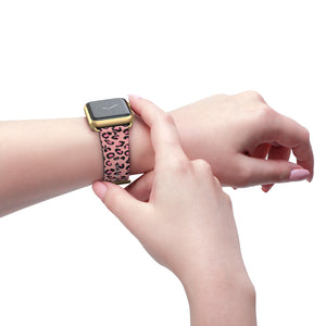 Pink Leopard Pring - Watch Band - Apple Watch Compatible - The Teez Project