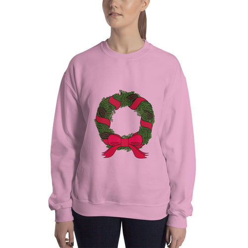 Ribbon Wreath - Sweatshirt - The Teez Project