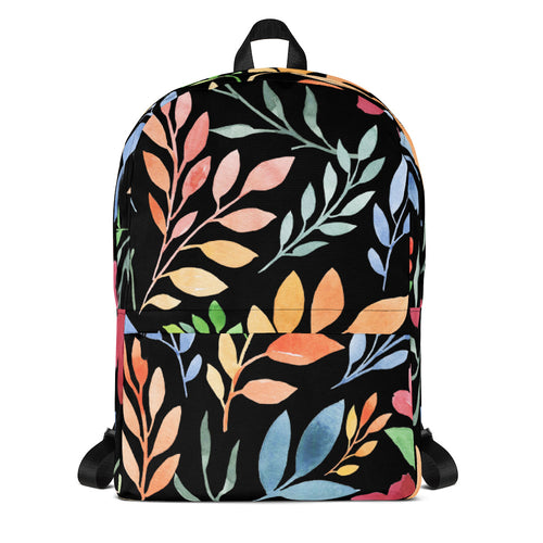 Black Floral - Backpack - The Teez Project
