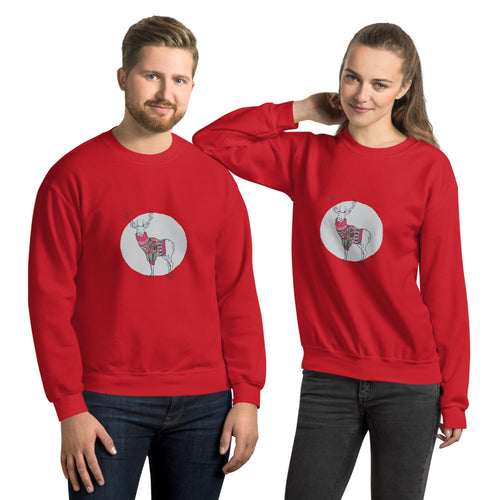Reindeer Sweater Unisex Sweatshirt - The Teez Project