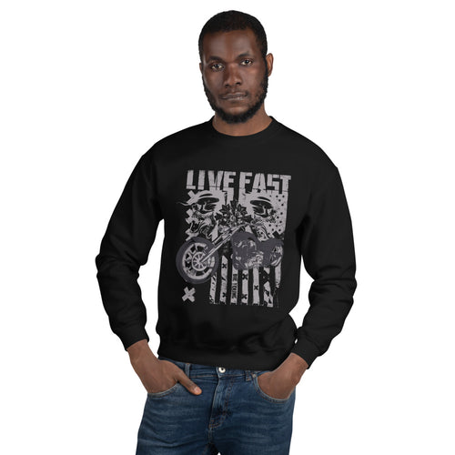 Live Fast Die Young Unisex Sweatshirt - The Teez Project